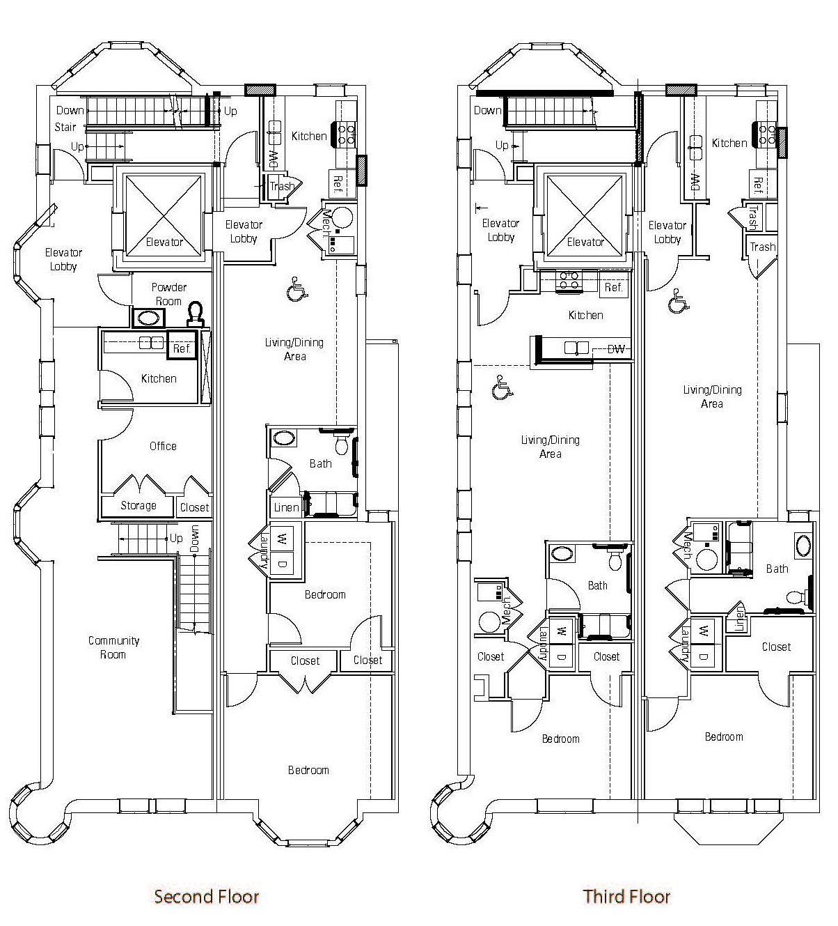 Brownstones at diamond street for Brownstone house plans