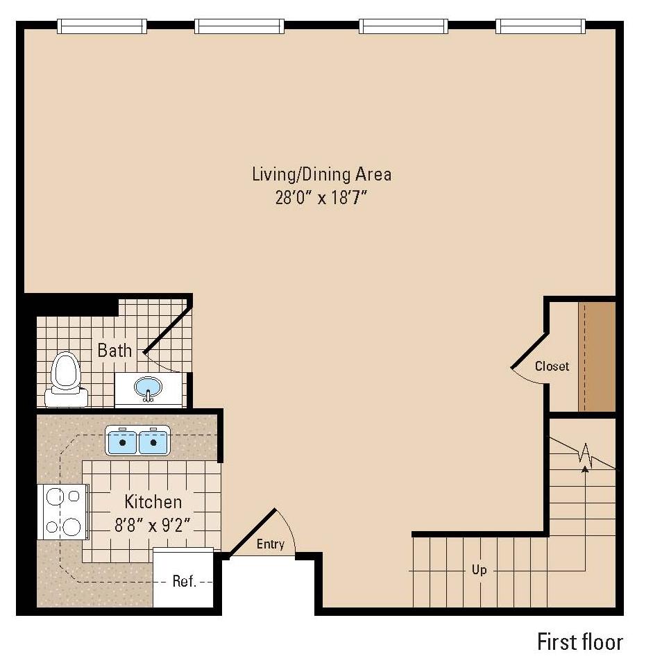 Hanover Shoe Two Bedroom Floor Plan First Floor ...