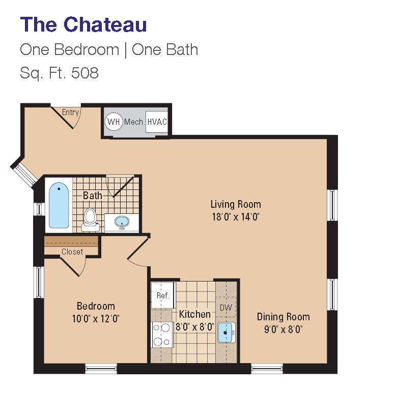 Chateau 1br
