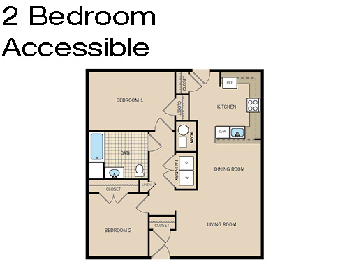 2 Bedroom Accessible