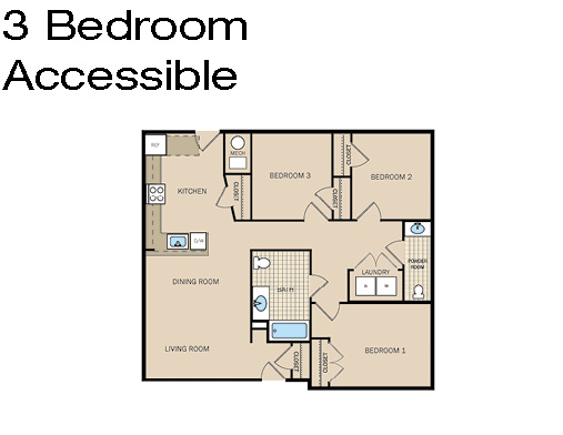 3 Bedroom Accessible