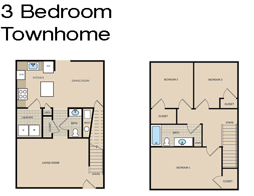 3 Bedroom Townhome A