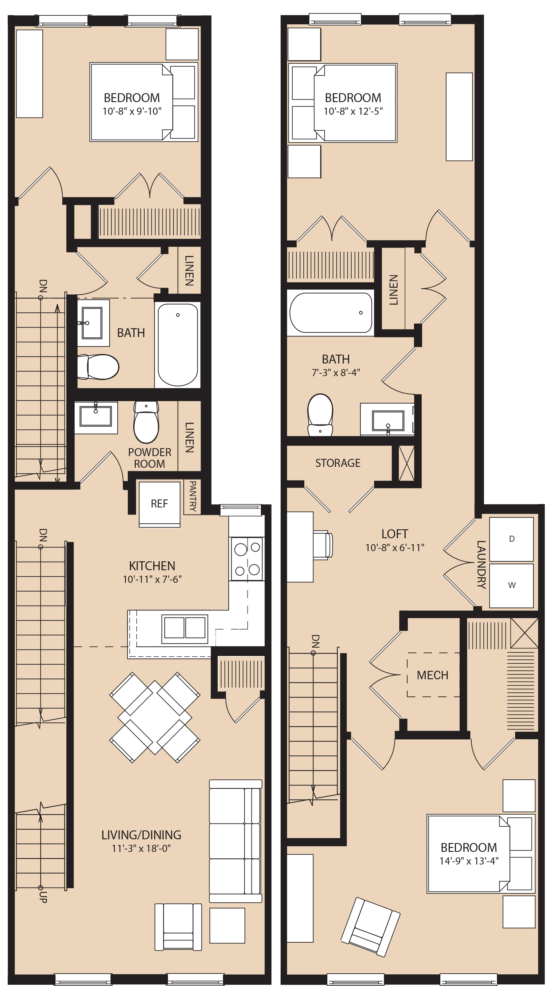 Brownstones at Diamond Street – Brownstone Floor Plans