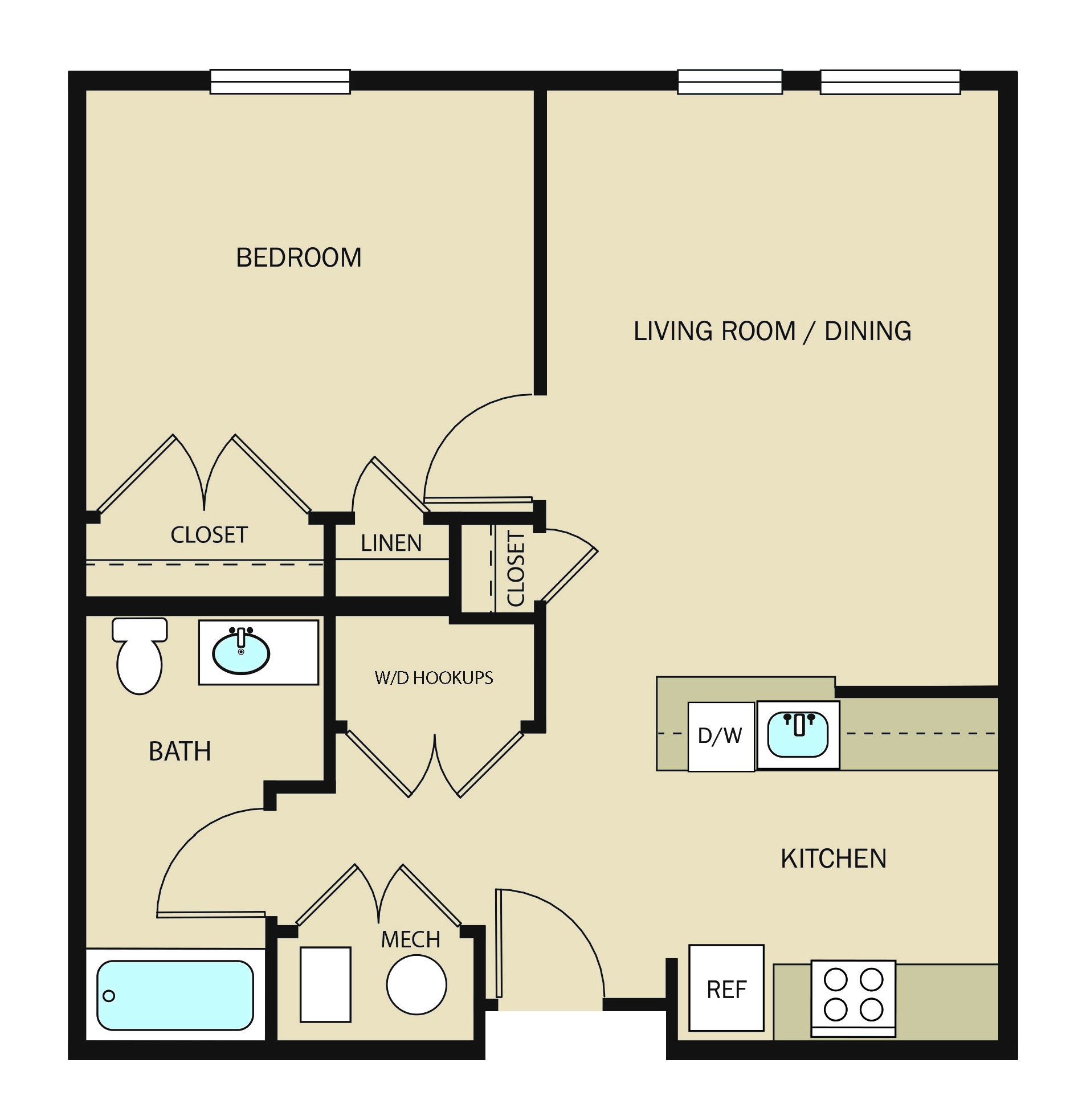 Mid-rise Unit A1 - 1 BR.jpg
